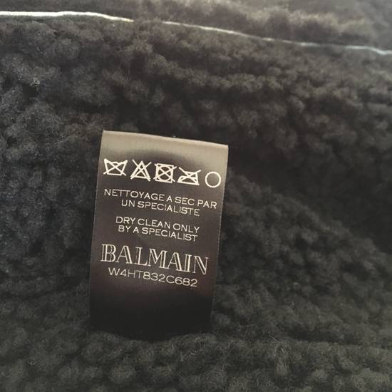 Balmain Black Leather & Shearling Biker Jacket Size US S / EU 44-46 / 1 - 4
