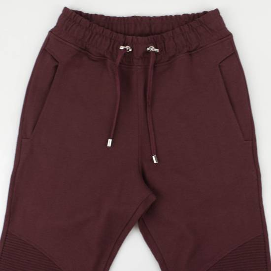 Balmain Burgundy Cotton 'Calecon Nervures' Sweatpants Pants Size XS Size US 30 / EU 46 - 2