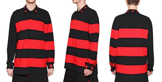Givenchy Givenchy Striped Star Embroidered Rottweiler Oversized Polo Shirt size M (L / XL) Size US M / EU 48-50 / 2 - 4