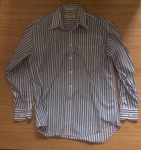 Balmain Blue Double Stripe Balmain Dress Shirt Size US M / EU 48-50 / 2
