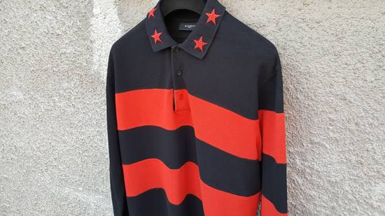 Givenchy Givenchy Striped Star Embroidered Rottweiler Oversized Polo Shirt size M (L / XL) Size US M / EU 48-50 / 2 - 6