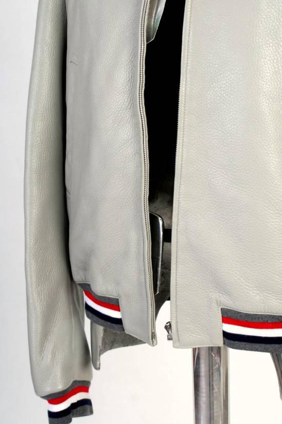 Thom Browne Thom Brown Deerskin Leather Varsity Jacket Grey Size 3 EU50 Medium RRP $3325 Size US M / EU 48-50 / 2 - 8