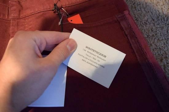 Balmain Balmain Authentic $1090 Jeans Burgundy Size 33 Slim Fit Brand New Size US 33 - 3