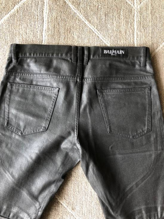 Balmain Biker Jeans Waxed Leather Knee Size US 30 / EU 46 - 7