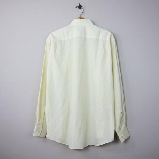 Balmain Balmain Paris 16 1/2/42 80% Cotton 20% Polyester Made in Hong Kong Light Yellow Long Sleeve Front Pocket Button Up Shirt Size US L / EU 52-54 / 3 - 1
