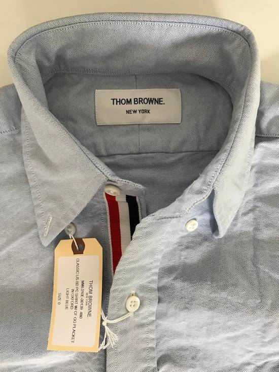Thom Browne classic shirt with grosgrain placket in blue oxford Size US XS / EU 42 / 0 - 5