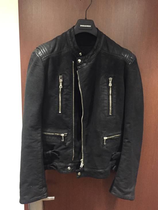 Balmain Waxed Moleskin Biker Jacket Size US XL / EU 56 / 4