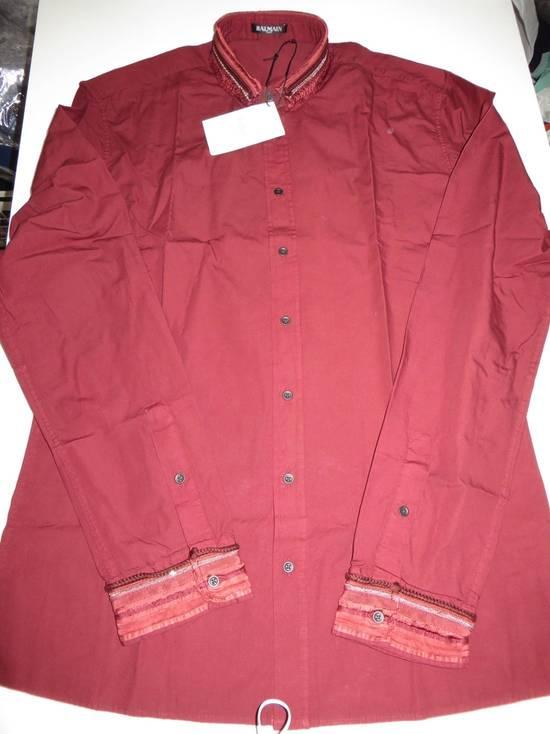 Balmain Embroidered plastron shirt Size US L / EU 52-54 / 3 - 6