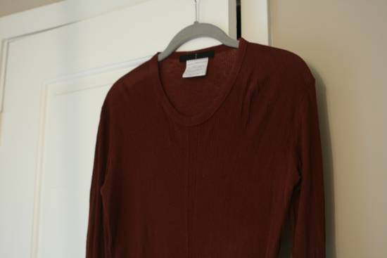 Julius FW08 Blood Red Cotton/Cashmere Rib L/S Size US S / EU 44-46 / 1 - 6
