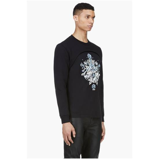 Givenchy $1200 Givenchy Black Layered Embellished Crystals Stars Rottweiler Cuban Fit Sweater size XL (L) Size US XL / EU 56 / 4 - 2