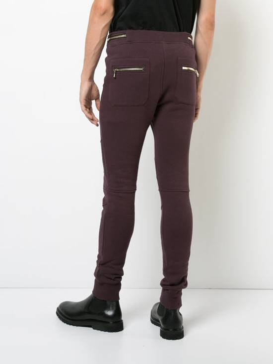 Balmain Balmain Burgundy Sweatpants Large Size US 34 / EU 50 - 3