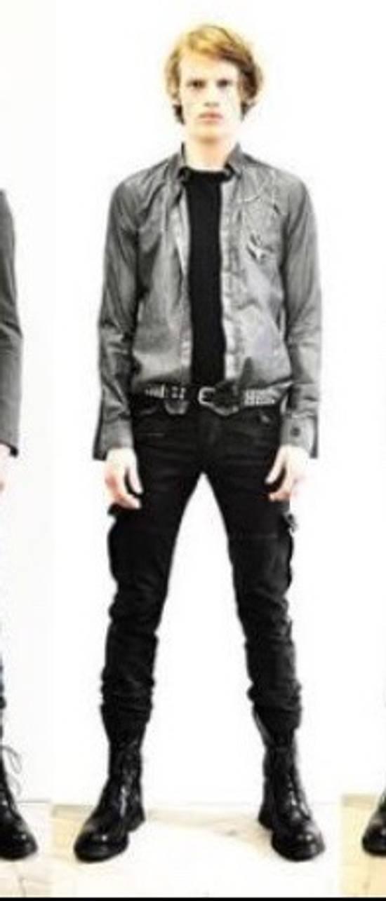 Balmain 11' SS Decarnin Era Grey Strip Distressed Shirt Size US M / EU 48-50 / 2 - 13
