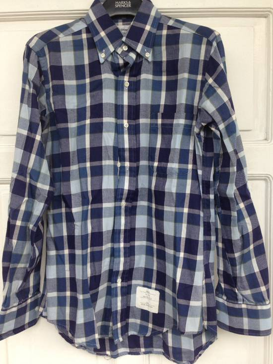 Thom Browne THOM BROWNE Blue Plaid Buttondown Size US S / EU 44-46 / 1