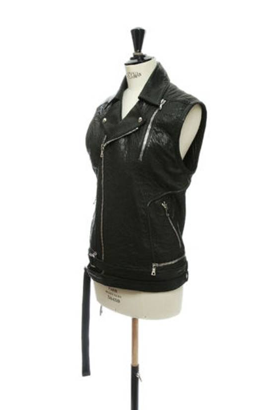 Balmain BALMAIN classic black pebble leather sleeveless biker jacket S FR46 US36 UK36 Size US S / EU 44-46 / 1 - 2