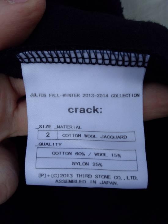 Julius Black Hooded Cotton Wool Jacquard Cardigan Size US M / EU 48-50 / 2 - 6