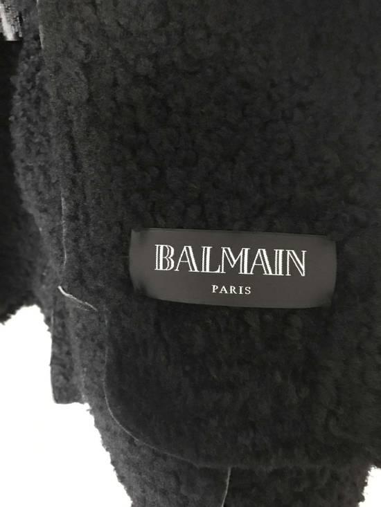 Balmain Black Shearling Leather Biker Jacket Size US M / EU 48-50 / 2 - 3