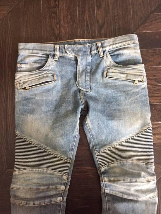 Balmain Balmain Blue Denim Motorcycle Jeans Size US 31 - 3