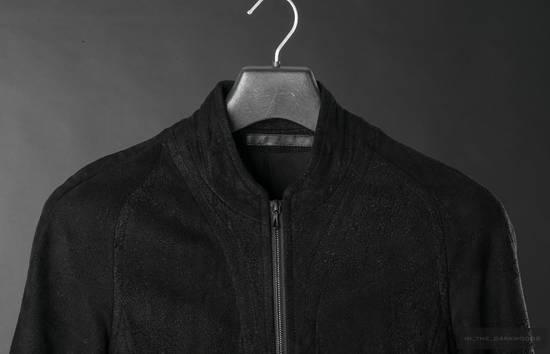 Julius = last drop = distressed lamb leather colarles jacket Size US M / EU 48-50 / 2 - 4