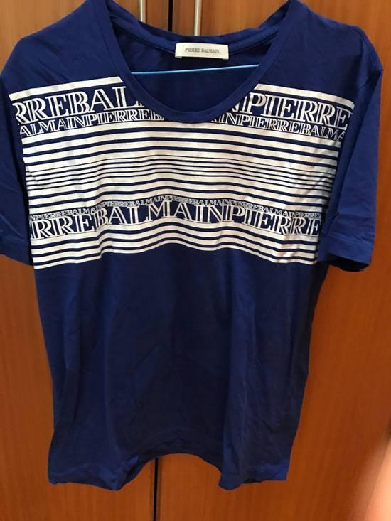 Balmain Last Drop***** Balmain Print blue t-shirt Size US M / EU 48-50 / 2