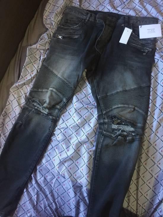 Balmain Distressed Biker Jeans Size US 34 / EU 50