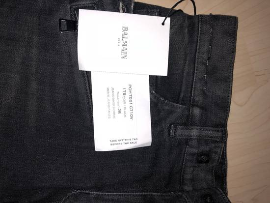 Balmain Destroyed Stretch Biker Jeans Size US 28 / EU 44 - 2