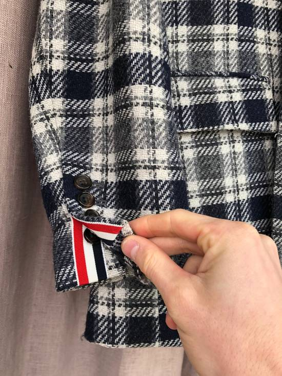 Thom Browne Navy/Grey Plaid Sportcoat Jacket Size 1 Size 38R - 2
