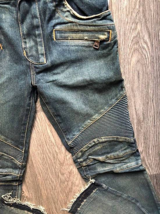Balmain Balmain Authentic $1050 Blue Denim Biker Jeans Size 28 Slim Fit Brand New Size US 28 / EU 44 - 5