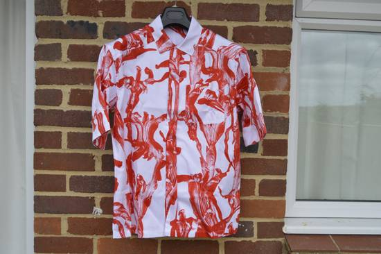 Givenchy Iris Print Short Sleeve Shirt Size US S / EU 44-46 / 1