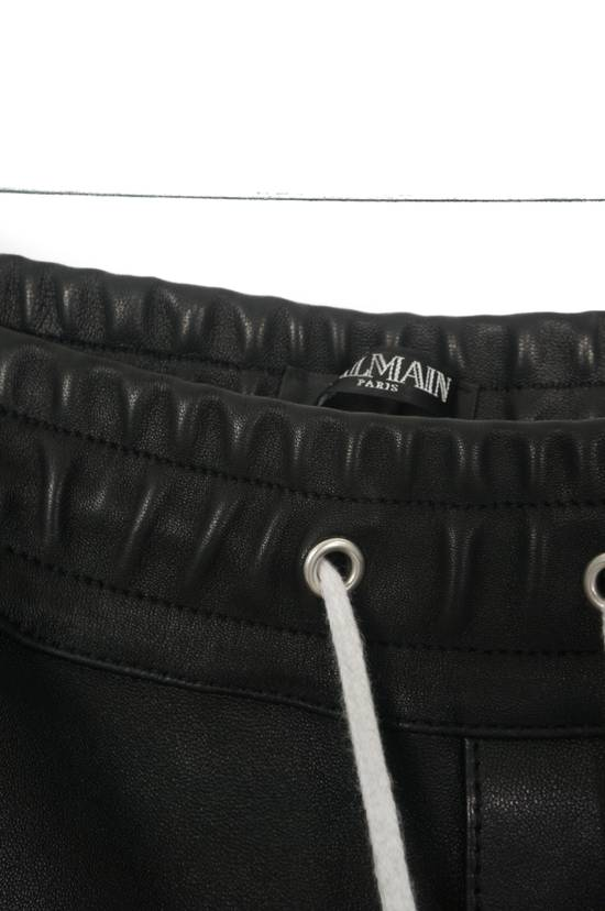 Balmain Balmain Black and White Leather Pants Size US 30 / EU 46 - 4