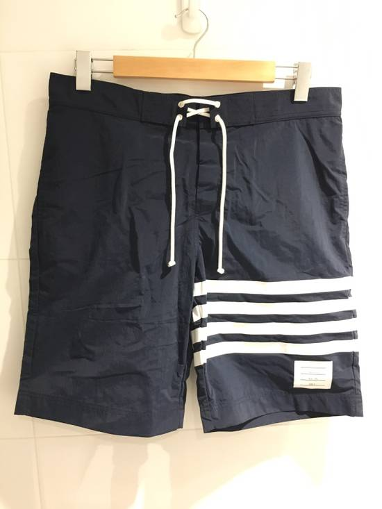 Thom Browne Long-Length Striped Swim Shorts Size US 33