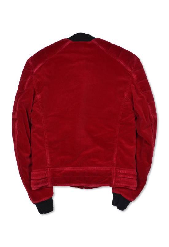 Balmain Badge Embellished Red Velvet Bomber Size US S / EU 44-46 / 1 - 2