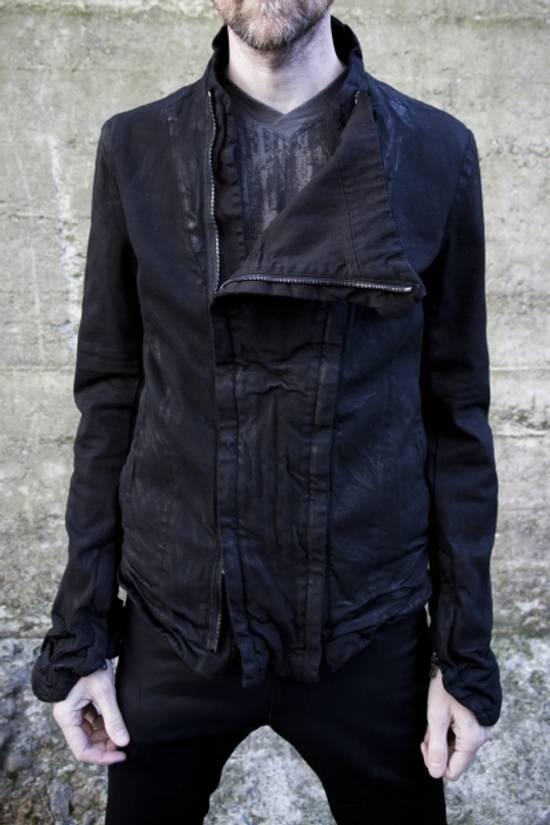 Julius MEN'S BLACK WAXED DENIM JACKET Size US XXL / EU 58 / 5 - 5