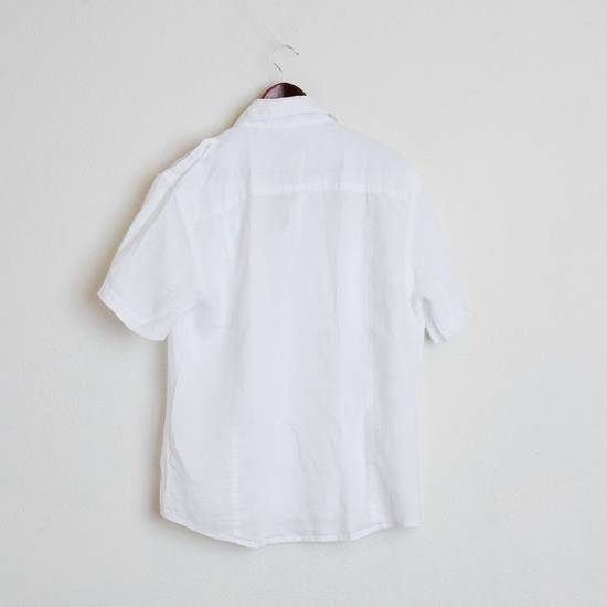 Balmain Balmain Paris White Short Sleeve military Linen Cotton Casual Shirt M Man #168 Size US M / EU 48-50 / 2 - 4