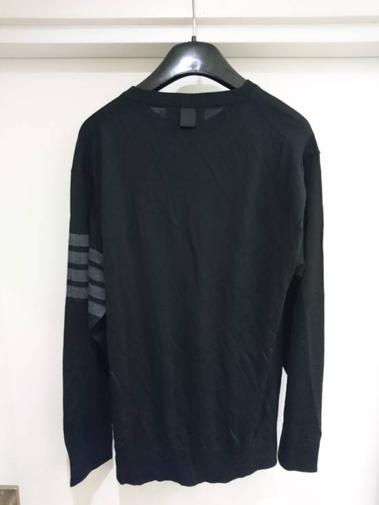 Thom Browne Black wool stripe knit, size 5 - RARE Size US L / EU 52-54 / 3 - 3