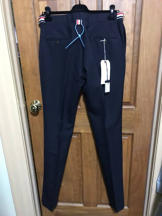 Thom Browne Navy Wool 2-Ply Fresco Low-rise Trousers Size 3 Size 34R - 4
