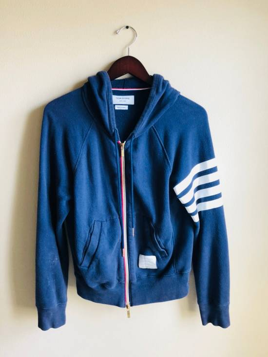 Thom Browne Navy Classic Full Zip Hoodie Size US S / EU 44-46 / 1