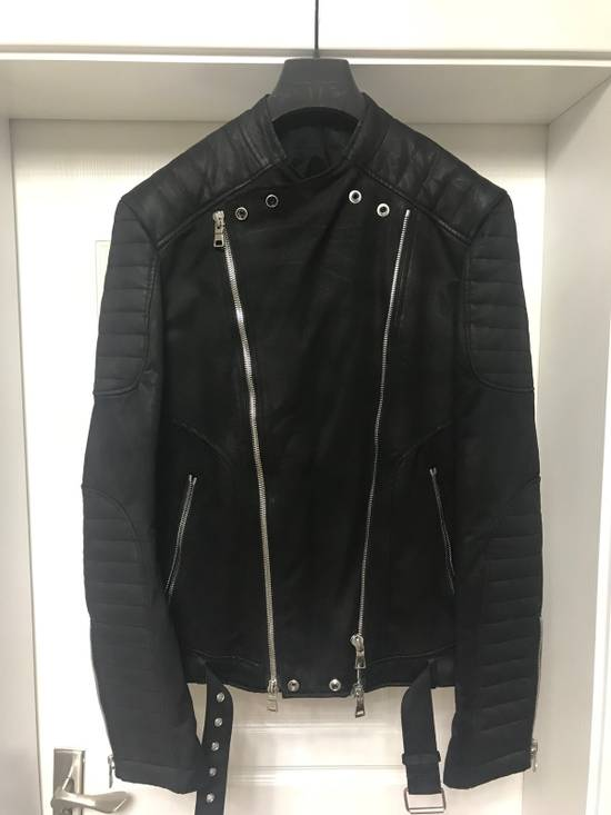 Balmain waxed biker jacket Size US M / EU 48-50 / 2 - 1