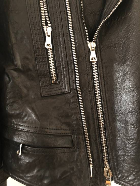 Balmain Leather Biker Jacket Size US L / EU 52-54 / 3 - 3