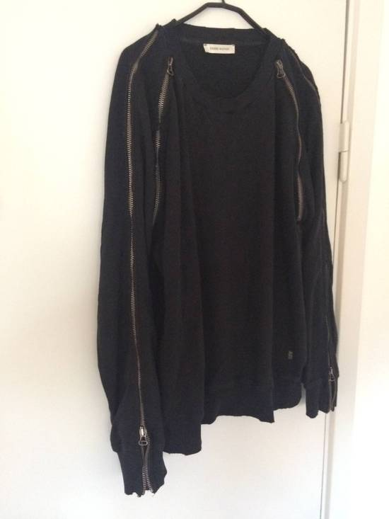 Balmain distressed asymmetrick zip sweatshirt Size US XL / EU 56 / 4 - 2