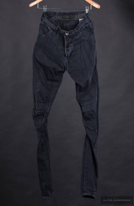 Julius 2014SS knit denim biker skinny pants Size US 28 / EU 44