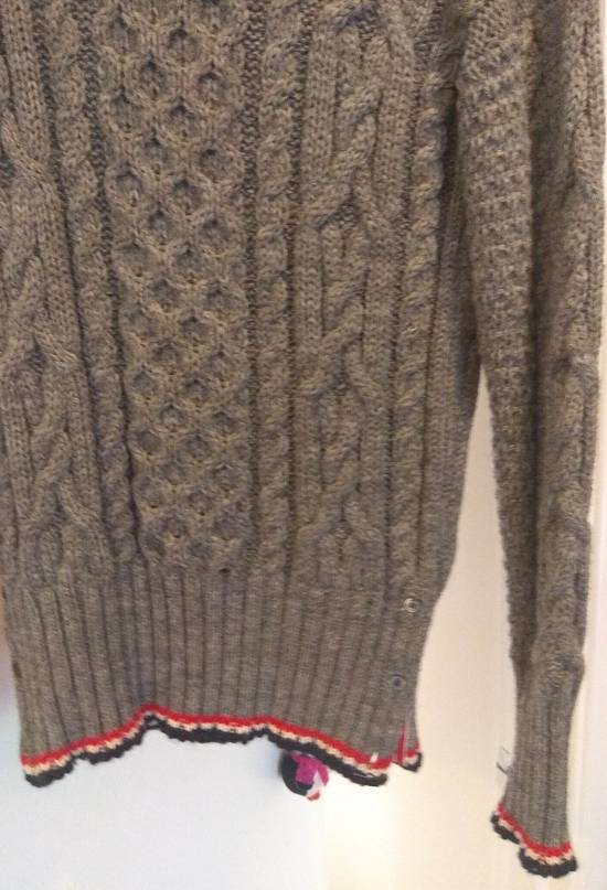 Thom Browne Thom Browne Grey Aran Roll Neck Knit size 3 Size US M / EU 48-50 / 2 - 7