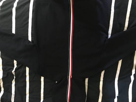 Thom Browne NAVY GROSGRAIN POPOVER HOODY Size US M / EU 48-50 / 2 - 4
