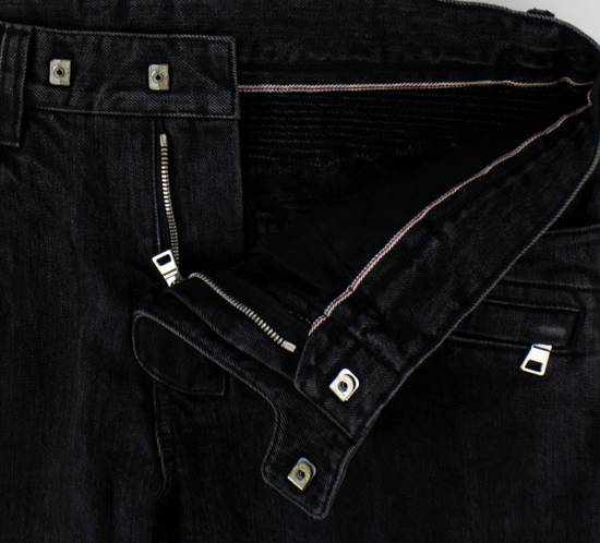 Balmain Black Cotton Denim Biker Jeans Size US 32 / EU 48 - 5