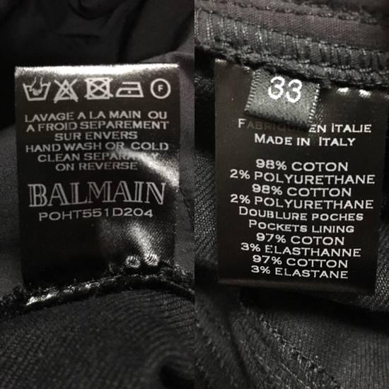 Balmain SS17 Balmain Biker Black Raw Jeans Size US 33 - 4