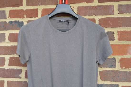 Balmain Grey Faded Bobble T-shirt Size US XS / EU 42 / 0 - 1