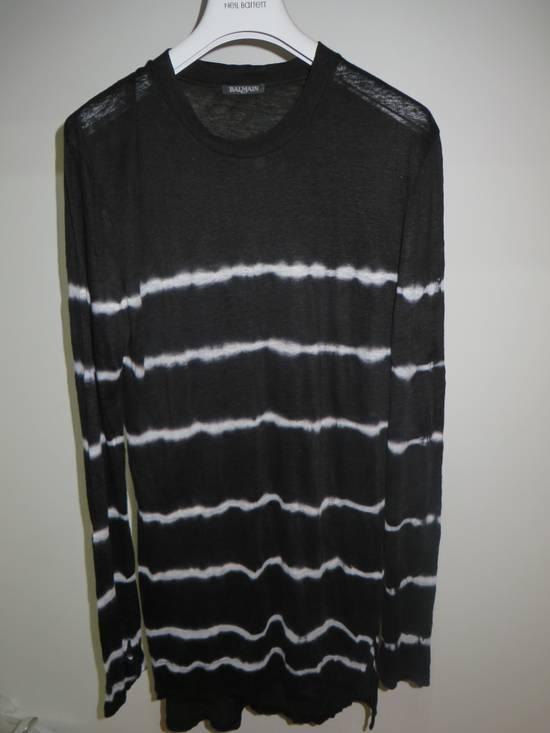 Balmain Tie-dye linen t-shirt Size US M / EU 48-50 / 2