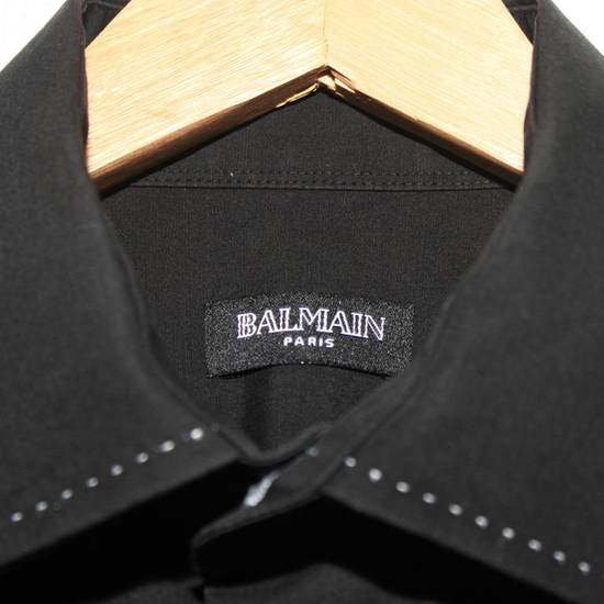 Balmain Vintage Balmain Paris Free Shipping Men's Longsleeve Button Shirt Black Size Fit Like L Cotton Size US L / EU 52-54 / 3 - 8