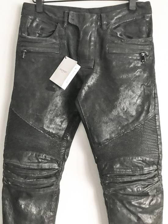 Balmain Brand New Biker Coated Jeans Size US 30 / EU 46 - 1