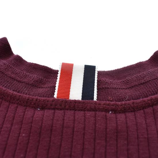 Thom Browne Wine Red Ribbed Henley Shirt NWT Size US XS / EU 42 / 0 - 3