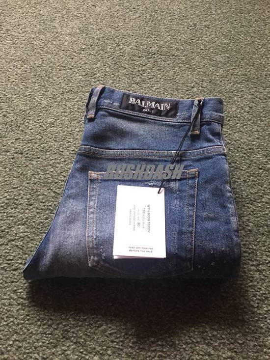 Balmain Blue Distressed Faded Skinny Jeans(Made in Japan) Very Rare! Size US 30 / EU 46 - 2